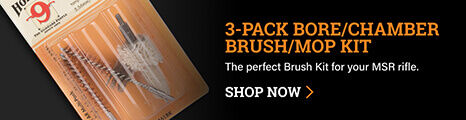 Hoppe's 3-Pack Brush Kit on dark background