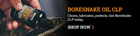 Person applying BoreSnake Oil CLP