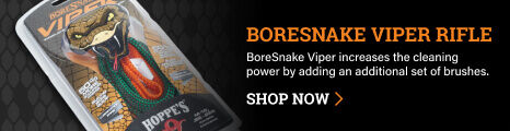 BoreSnake Viper Rifle on dark background