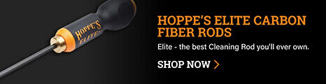Hoppe's Elite Carbon Fiber Rod on dark background
