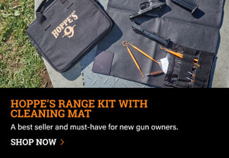 Hoppe's Range Kit tools laying on Cleaning Mat