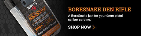 BoreSnake Den Rifle on dark background