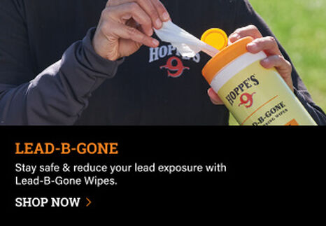 Person using Lead-B-Gone skin cleansing wipes