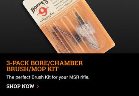 Hoppe's 3-Pack Brush Kit on dark background