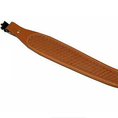 Brown Cobra Leather Sling with Swivels